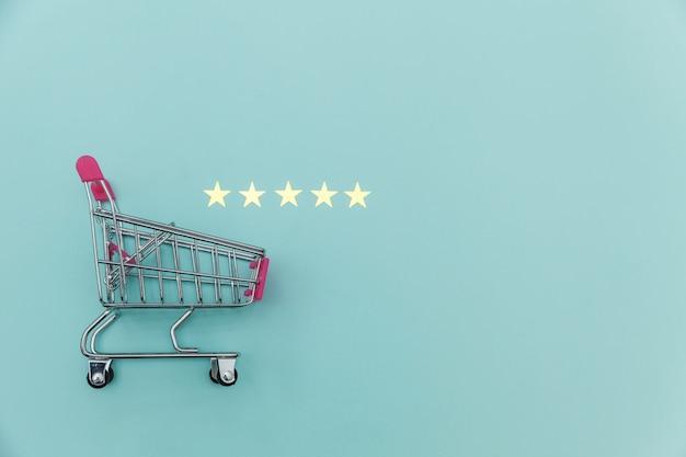 Kleiner supermarkt einkaufswagen und 5 sterne bewertung