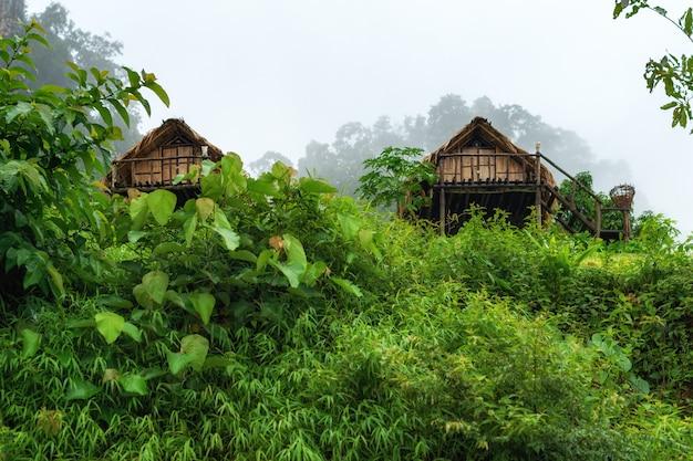 Kleines haus in mae hong son provinz thailand