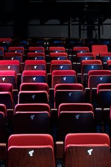 Kleines theater rot geschlossene sitze