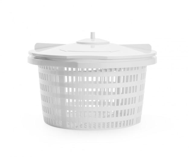 Klempnergefäß für das wasser getrennt auf einem weiß