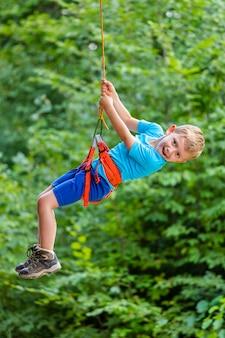 Kletternder baum im abenteuerpark