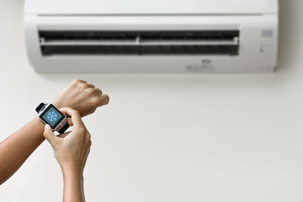 Klimatisierung mit einer smartwatch