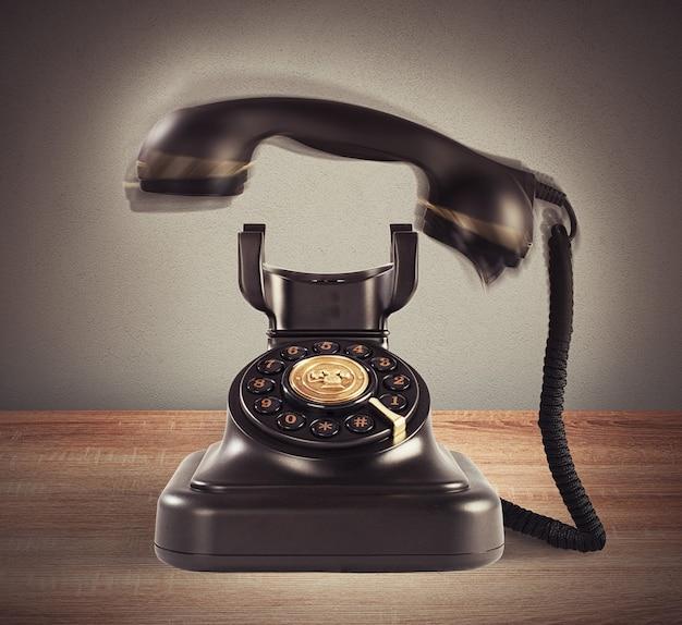 Klingelndes vintage-telefon