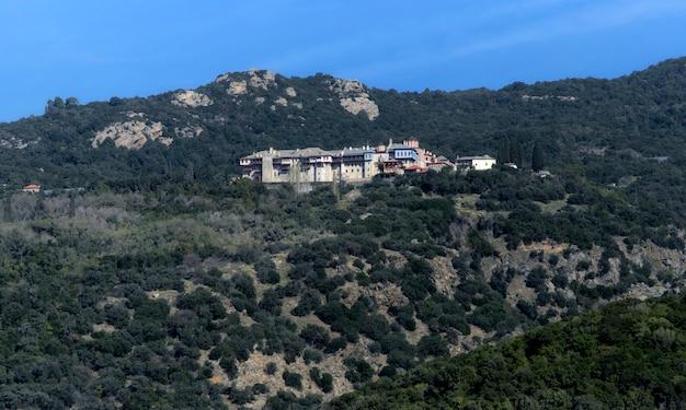 Kloster von xiropotam auf dem heiligen berg athos
