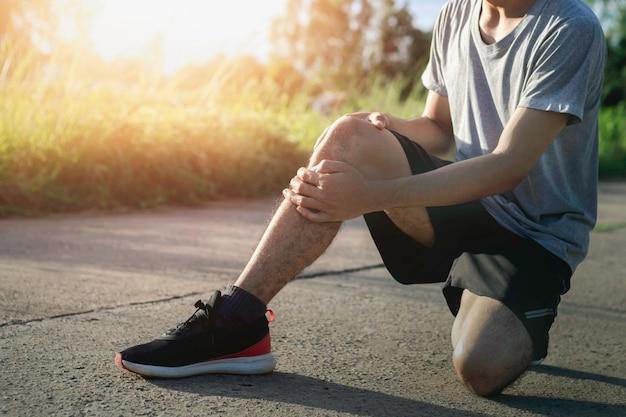 Knieverletzung durch training beim laufen
