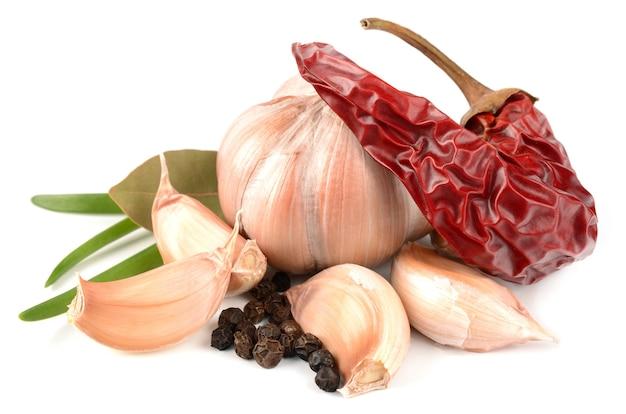 Knoblauch, paprika und gewürze