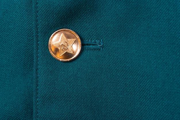 Knopf an der uniform der sowjetischen armee