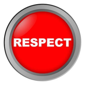 Knopf mit aufschrift respekt