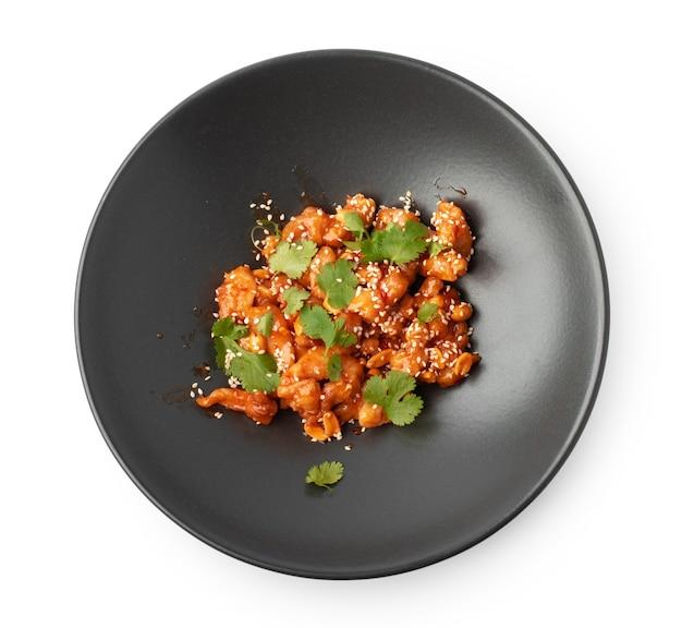 Knusprige auberginen in süß-sauer-sauce