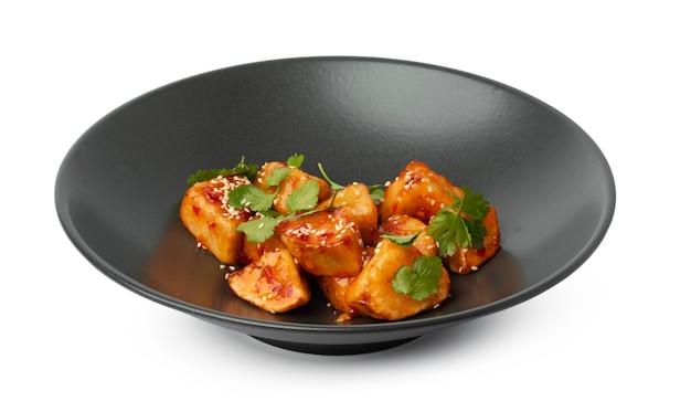 Knusprige auberginen in süß-saurer sauce