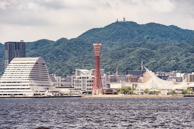 Kobe-hafenturmsonnenuntergang