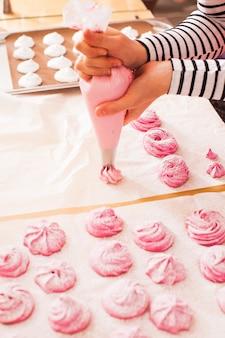 Kochen von obst rosa marshmallow - süßer zephyr