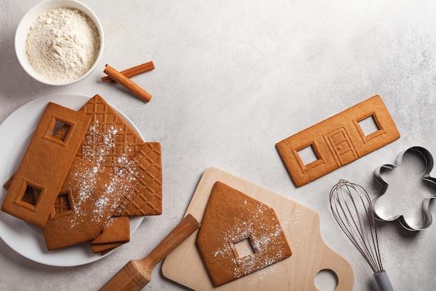 Kochen weihnachts lebkuchenhaus