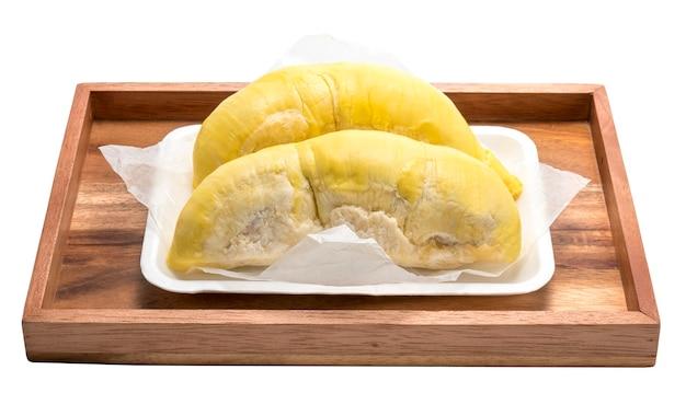 König der früchte, durian lokalisiert auf weiß, durian isoliert auf weißer sammlung.