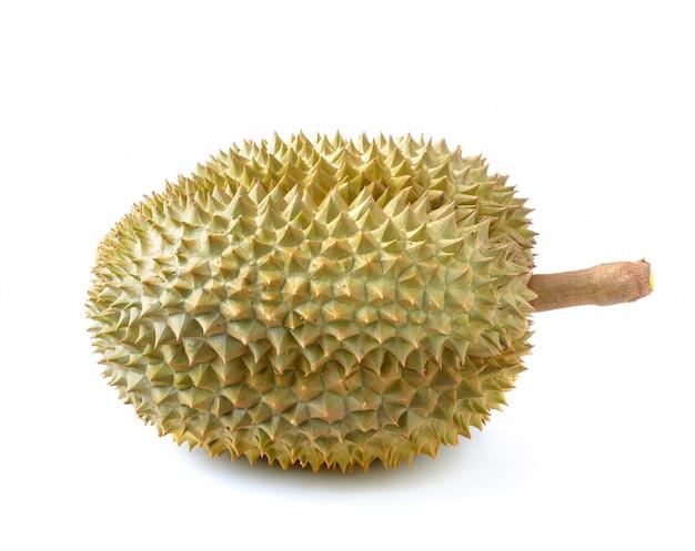 König der früchte, durian lokalisiert auf weiß
