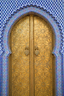 Königspalast in fez, marokko