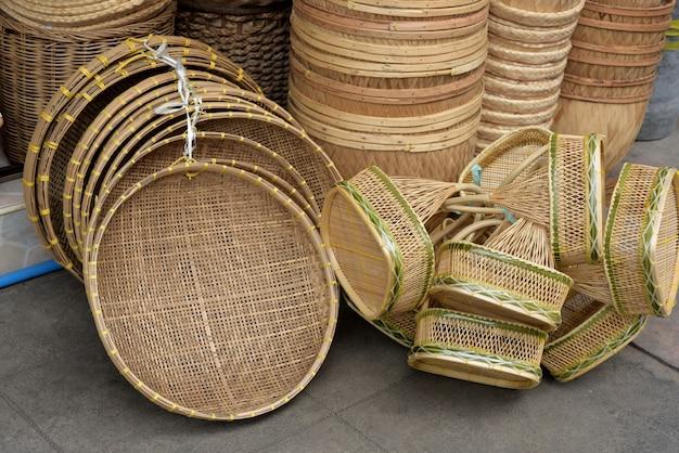 Körbe shop.es gibt viele arten von korb, die aus bambus hergestellt werden. korbweide ist h