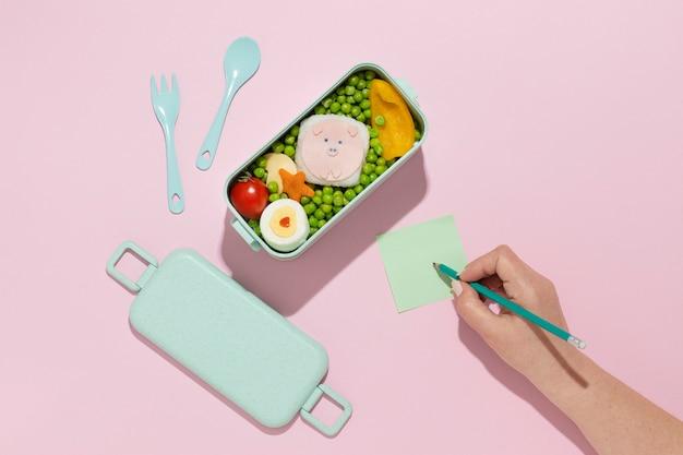 Köstliche bento-box-komposition