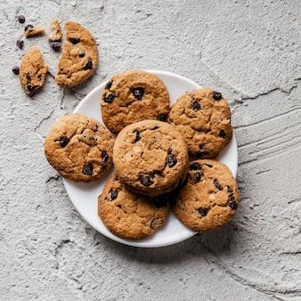 Köstliche cookies draufsicht