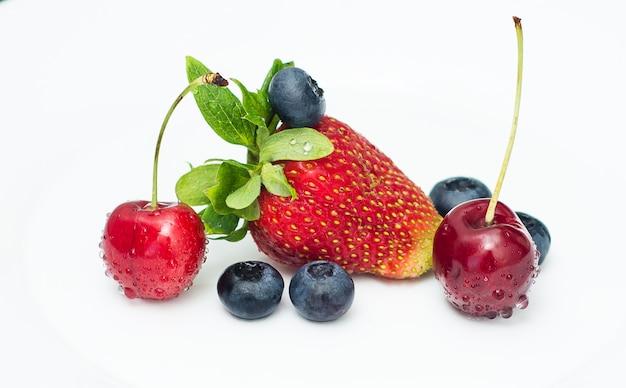 Köstliche früchte zum frühstück
