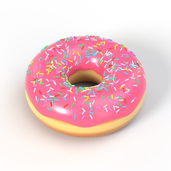 Köstliche illustration des donuts 3d
