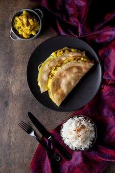Köstliche indische dosa-komposition