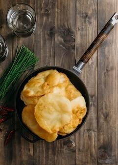Köstliche pakistanische schüssel draufsicht