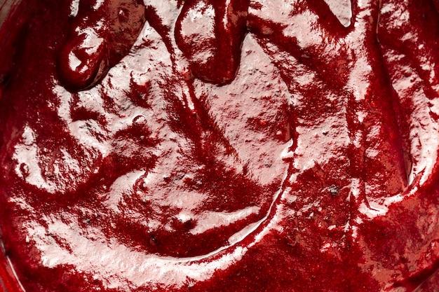 Köstliche rote glasur mit textur