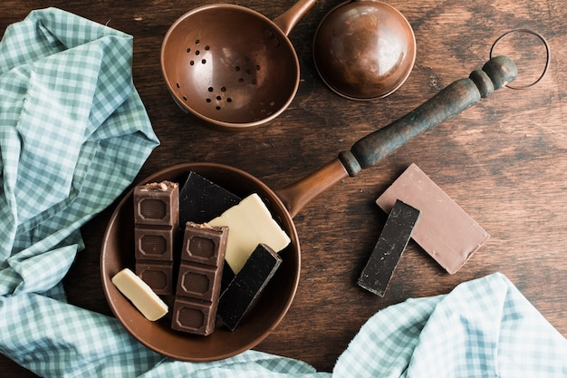 Köstliche schokoladenzusammensetzung