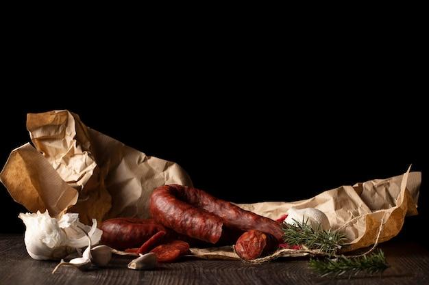 Köstliche traditionelle chorizo-komposition