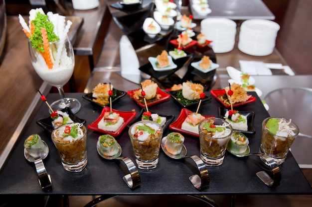 Köstlicher aperitif und fingerfood