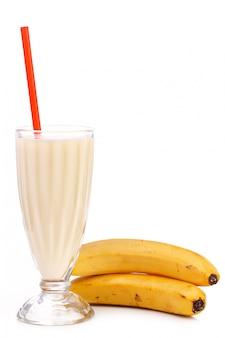Köstlicher bananenmilchshake