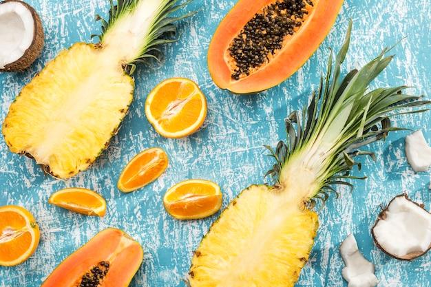 Köstlicher hintergrund gemacht von der frucht