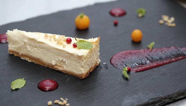 Köstlicher kuchen und seine bestandteile