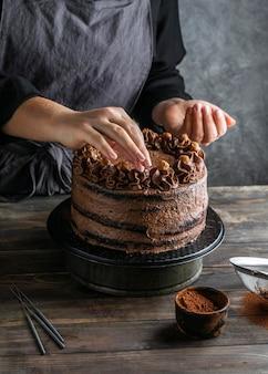 Köstlicher schokoladenkuchen