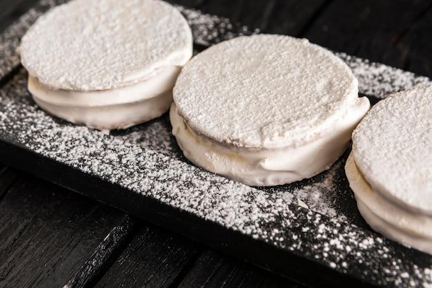 Köstliches alfajores-kekskonzept
