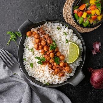 Köstliches brasilianisches essen draufsicht