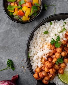 Köstliches brasilianisches essen über ansicht