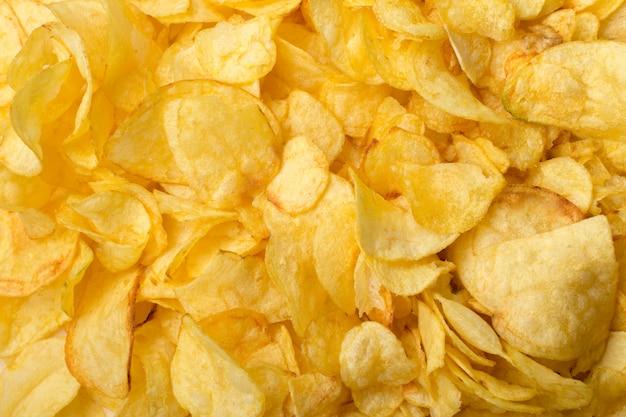 Köstliches chipsl auf tabellennahaufnahme