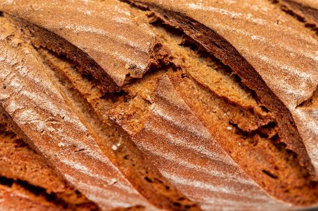 Köstliches gebackenes hauptbrot der nahaufnahme