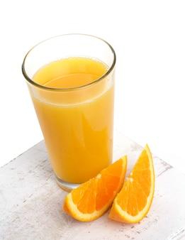 Köstliches glas orangensaft