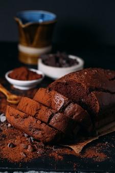 Köstliches hausgemachtes schokoladenbrot