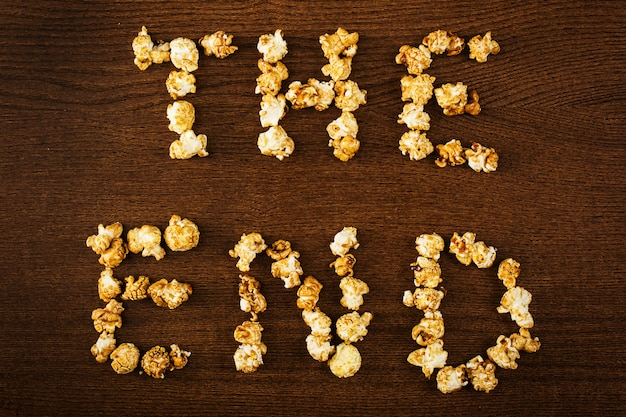 Köstliches popcorn, die endphrase