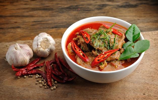 Köstliches thailändisches panang-curry