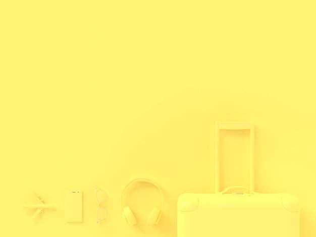 Koffer gelb