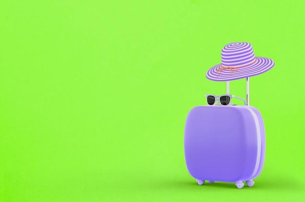 Koffer lila farbe