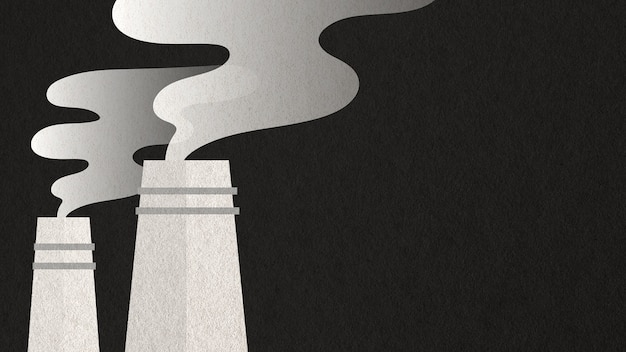 Kohlekraftwerke graue luftverschmutzung papierhandwerk