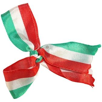 Kokarde mit italienischer nationalflagge