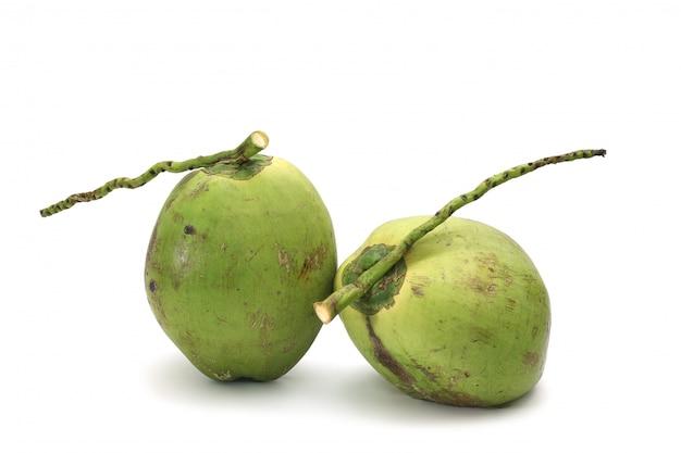 Kokosnuss reif und lecker isoliert