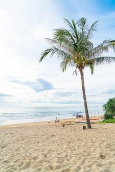 Kokosnussbaum mit tropischem strand